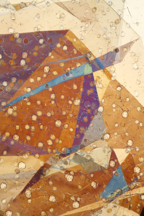 Folha dobrada na luz polarizada imagem de stock