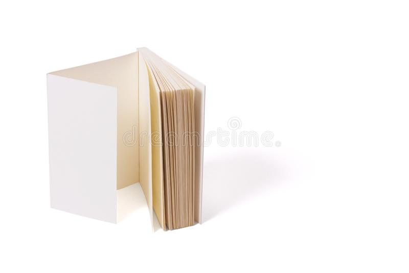 Folha dobro da tampa dos rascunhos Modelo para imprimir produtos e apresentações fotografia de stock