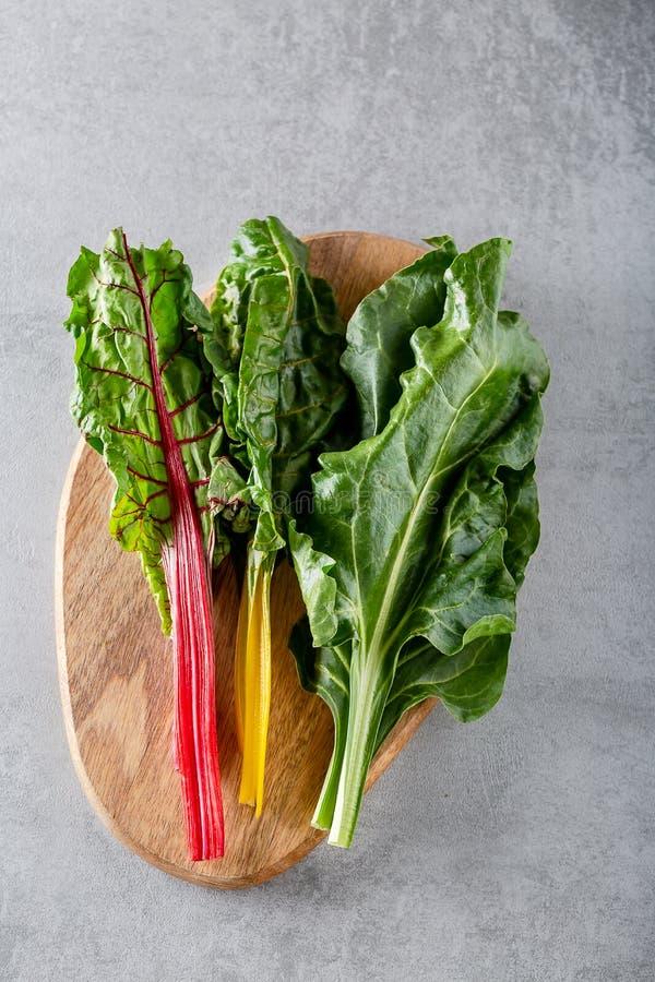 Folha dos verdes de beterraba das beterrabas da planta do alimento typicaly para pobres da dieta na gordura fotos de stock royalty free
