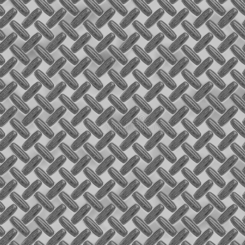 Folha enorme do metal da placa do diamante ilustração stock