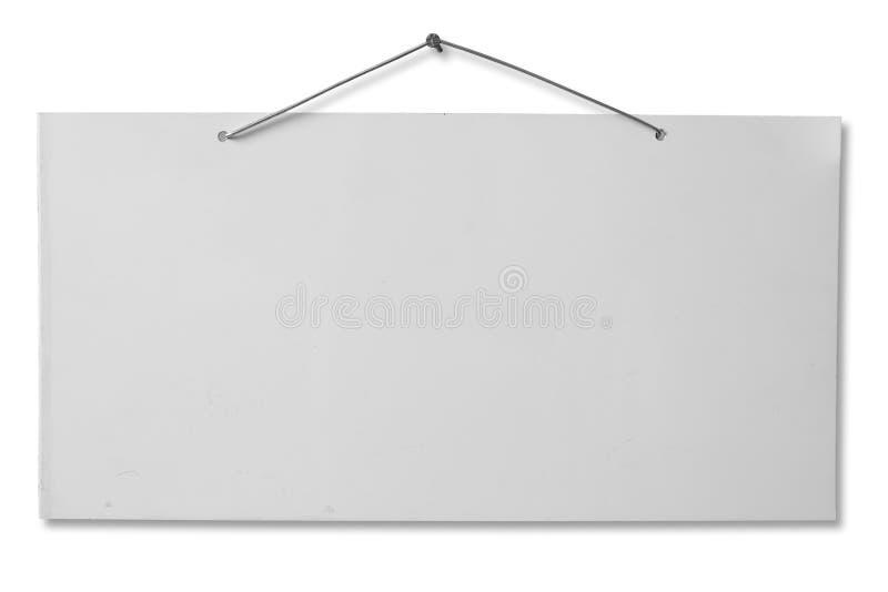 Folha envernizada branca - trajeto de grampeamento foto de stock royalty free