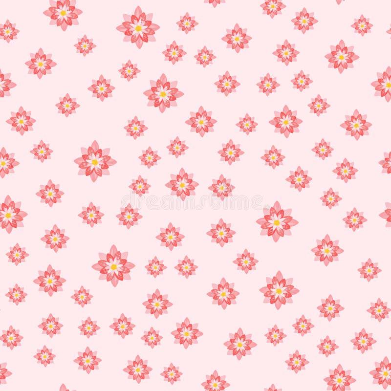 Folha floral do desenho do projeto colorido sem emenda tropical bonito da natureza da decoração das plantas do verão do projeto d ilustração do vetor