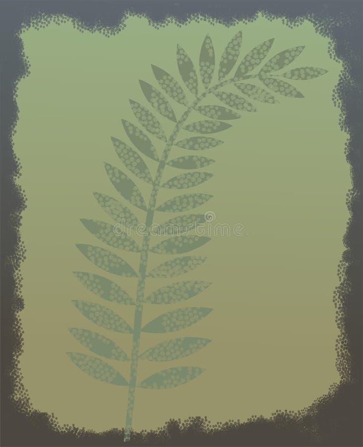Folha fossilizada ilustração royalty free