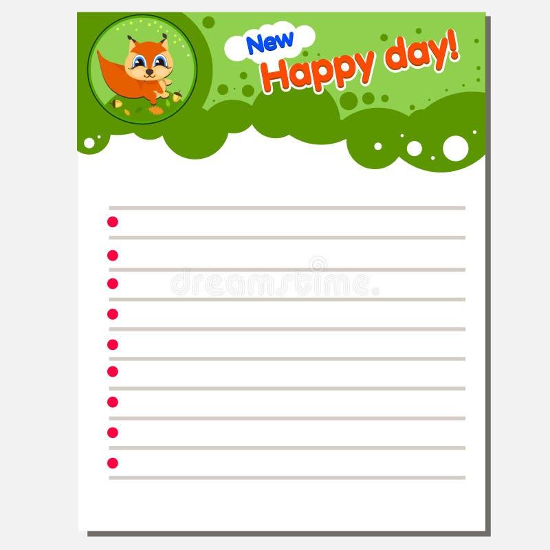 A folha imprimível da prática da escrita para o jardim de infância pré-escolar caçoa para melhorar habilidades básicas da escrita ilustração do vetor