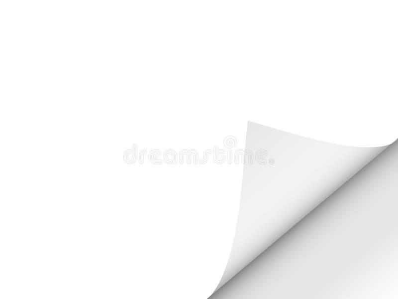 Folha limpa dobrada Giro de página Espaço para o texto Ilustração do vetor ilustração do vetor