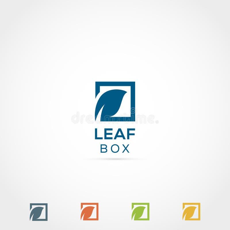 Folha Logo Design ilustração stock