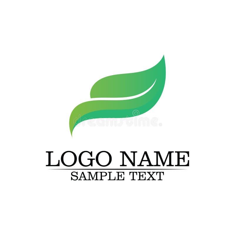 Folha Logo Template da ?rvore de Eco ilustração do vetor