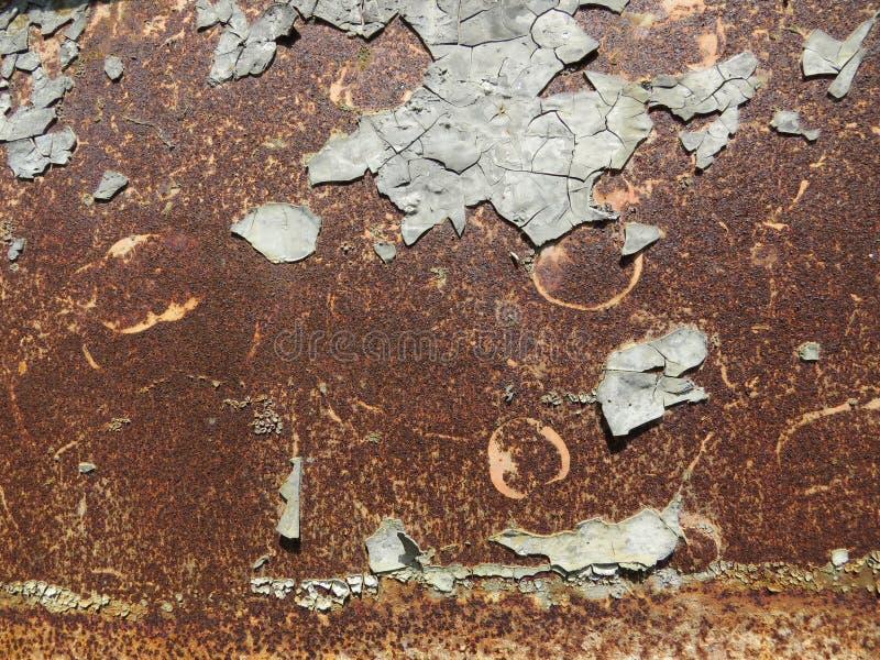 Folha oxidada Textura com invas?o de partes da oxida??o imagem de stock royalty free