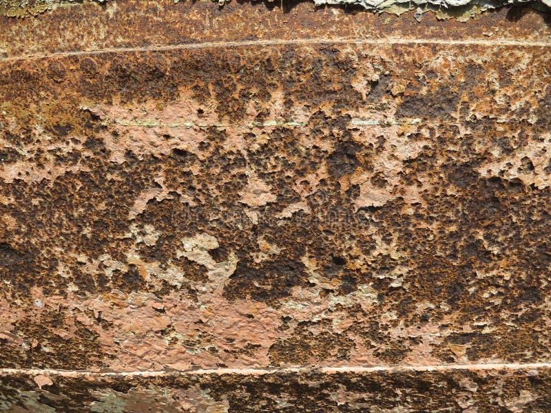Folha oxidada Textura com invas?o de partes da oxida??o imagens de stock royalty free