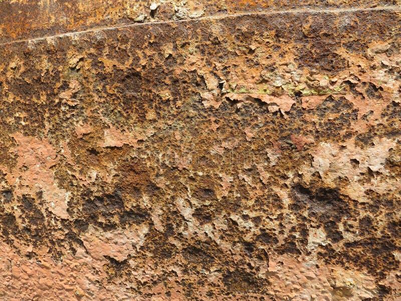 Folha oxidada Textura com invas?o de partes da oxida??o fotografia de stock royalty free