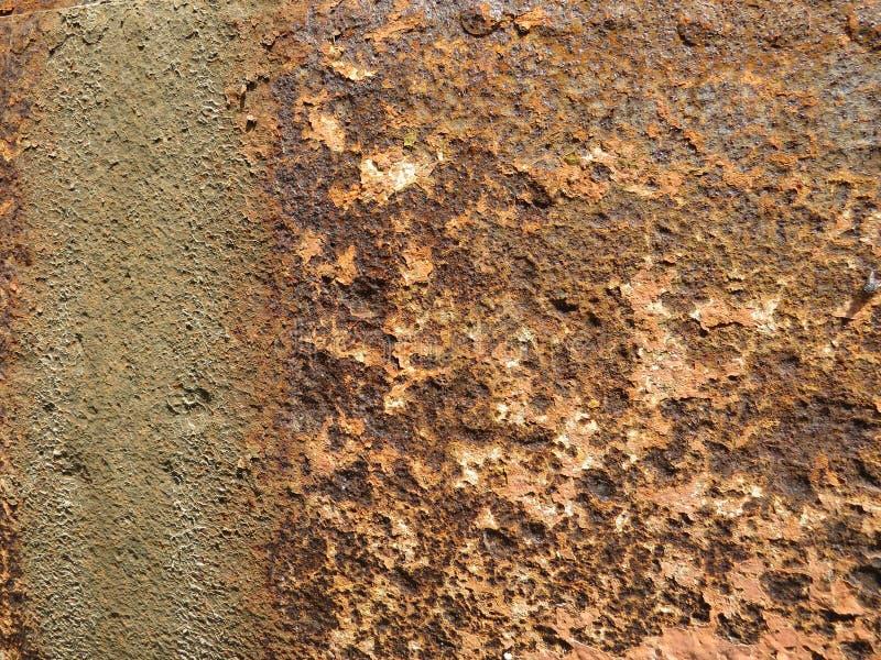 Folha oxidada Textura com invas?o de partes da oxida??o fotos de stock
