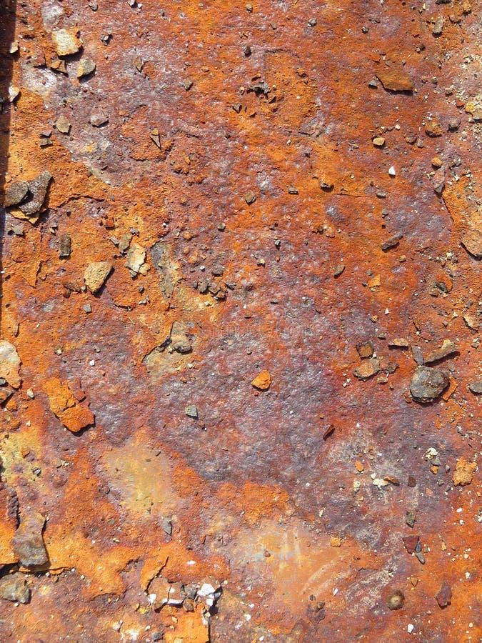 Folha oxidada Textura com invas?o de partes da oxida??o foto de stock royalty free