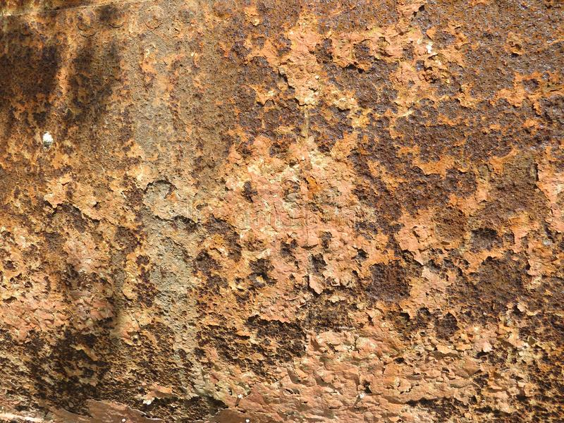 Folha oxidada Textura com invas?o de partes da oxida??o fotos de stock royalty free