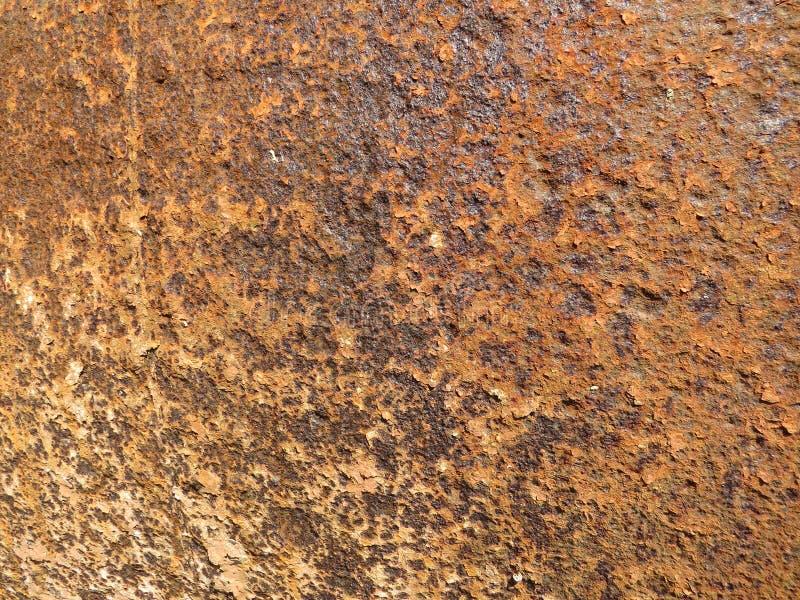 Folha oxidada Textura com invas?o de partes da oxida??o imagens de stock