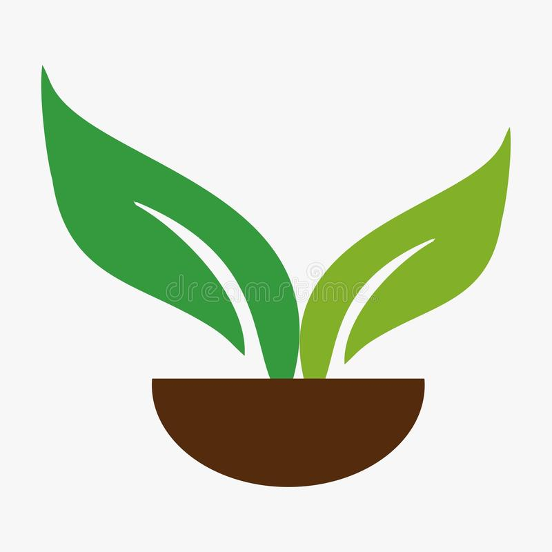 Folha, planta, logotipo, ecologia, pessoa, bem-estar, verde, folhas, grupo do ícone do símbolo da natureza dos projetos ilustração stock