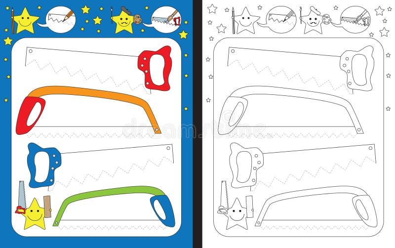 Folha pré-escolar ilustração do vetor