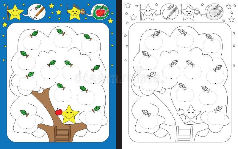 Folha pré-escolar ilustração stock