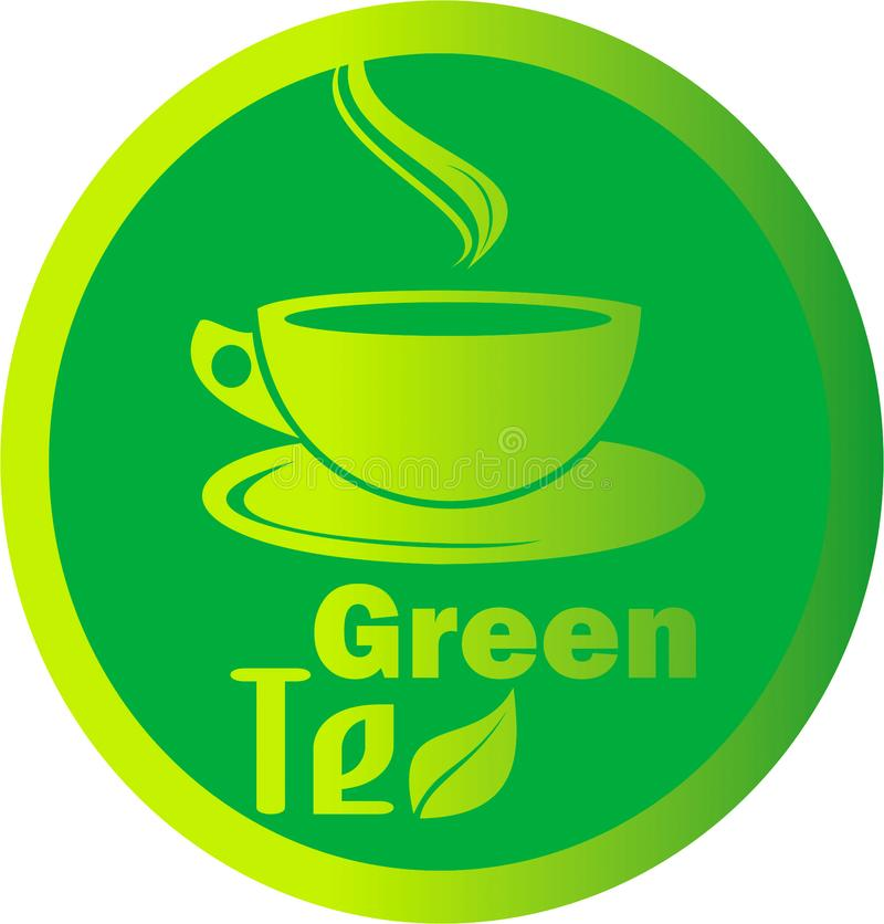 Folha quente do chá verde do logotipo foto de stock royalty free