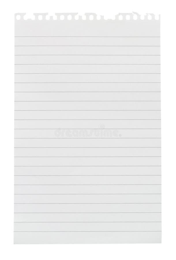 Folha rasgada do papel de nota foto de stock
