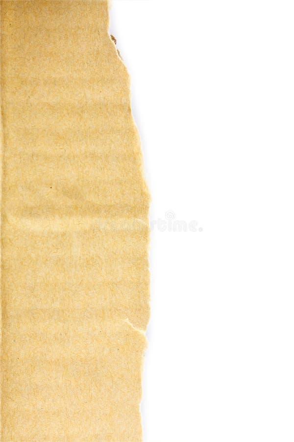 Folha textured rasgada velha do cartão fotos de stock royalty free