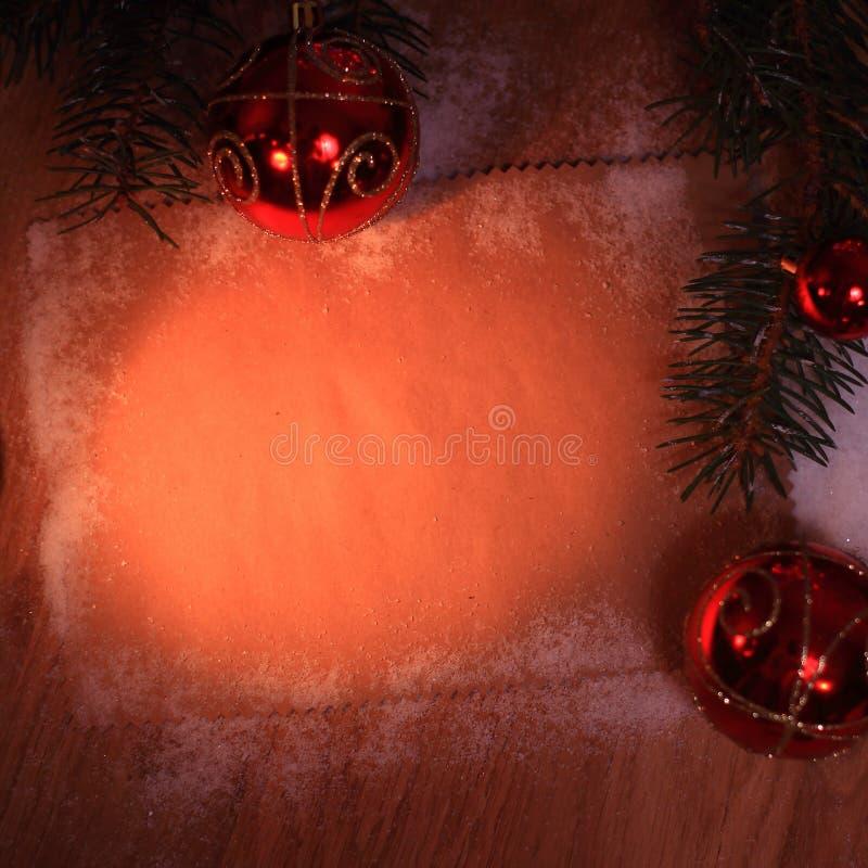 Folha vazia para cumprimentos e decorações do Natal foto de stock