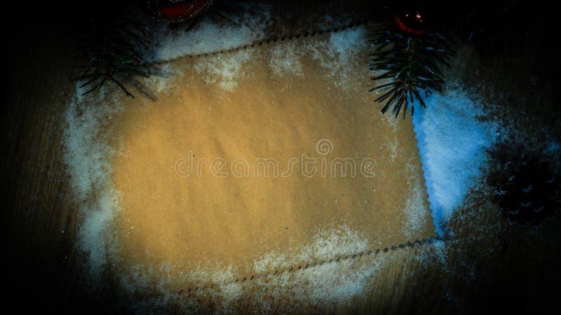Folha vazia para cumprimentos e decorações do Natal foto de stock royalty free
