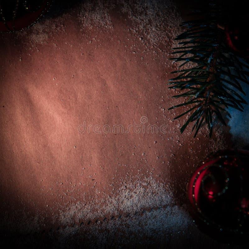 Folha vazia para cumprimentos e decorações do Natal fotos de stock royalty free