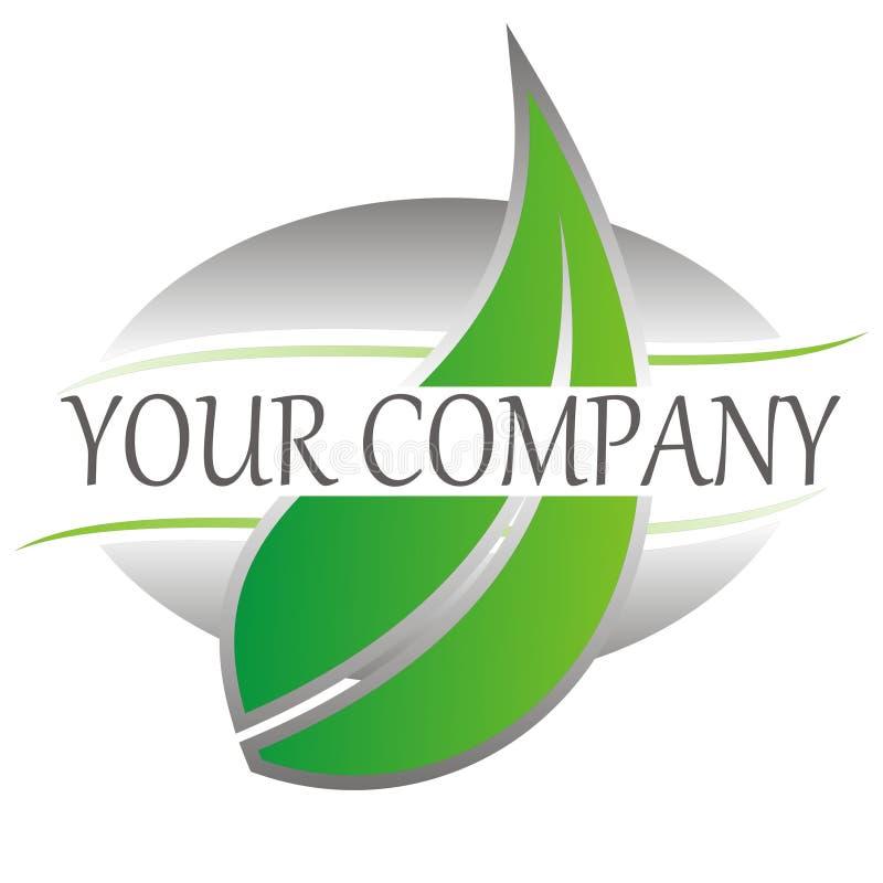 Folha verde do logotipo ilustração stock