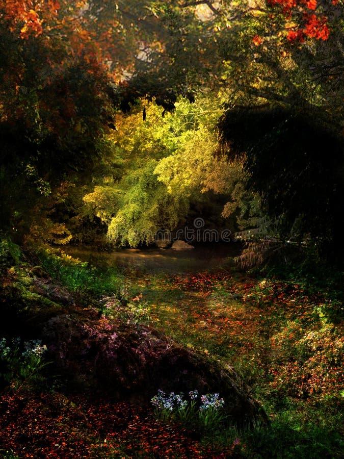 Folhagem de outono colorida da fuga de Rivanna imagens de stock