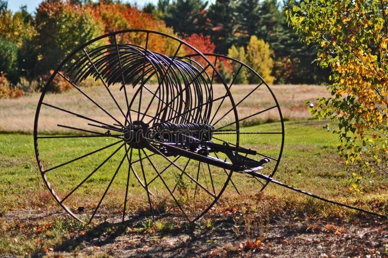 Folhagem de outono da roda de vagão fotos de stock