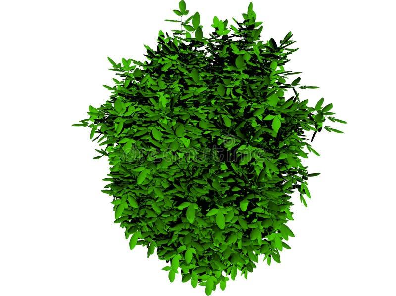 Folhas 3d verdes para o fundo ilustração stock
