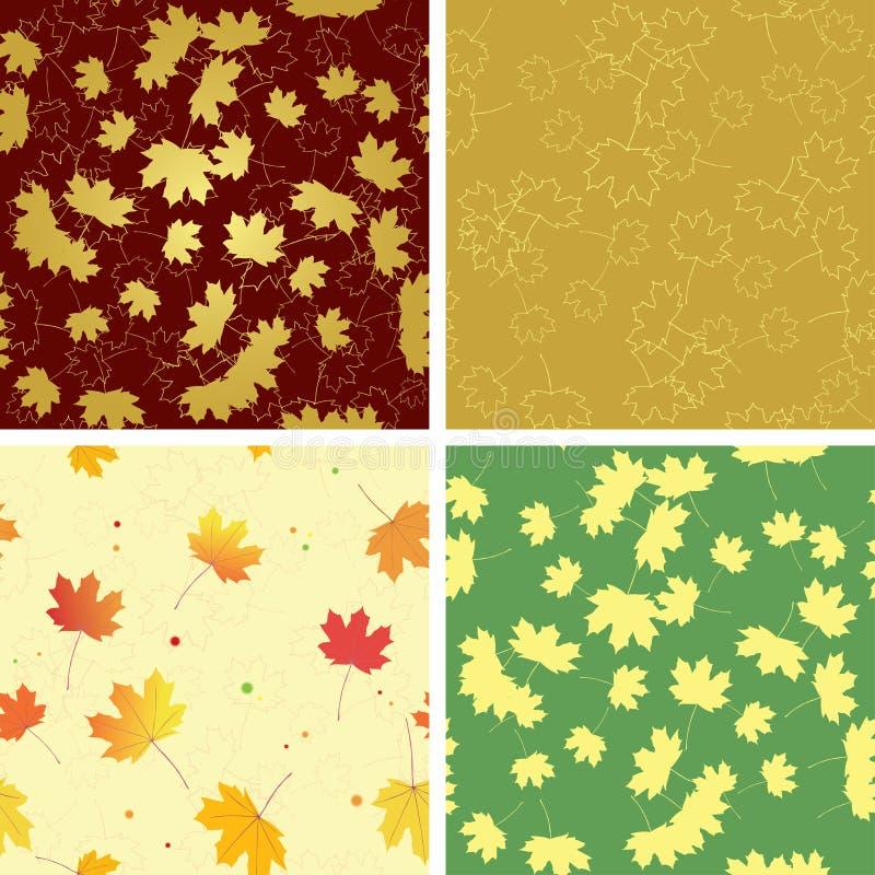 Folhas brilhantes do outono em testes padrões sem emenda ilustração royalty free