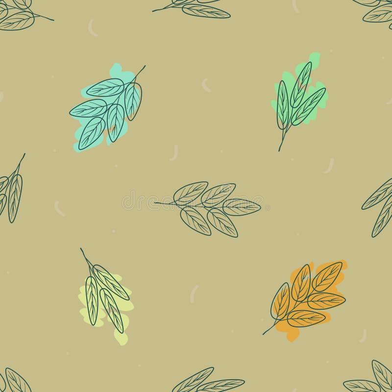 Folhas coloridas do outono ilustração stock