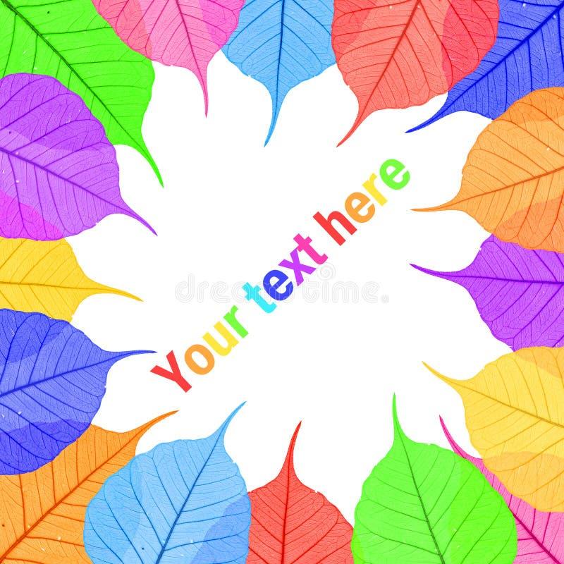 Folhas coloridas para seu texto imagens de stock