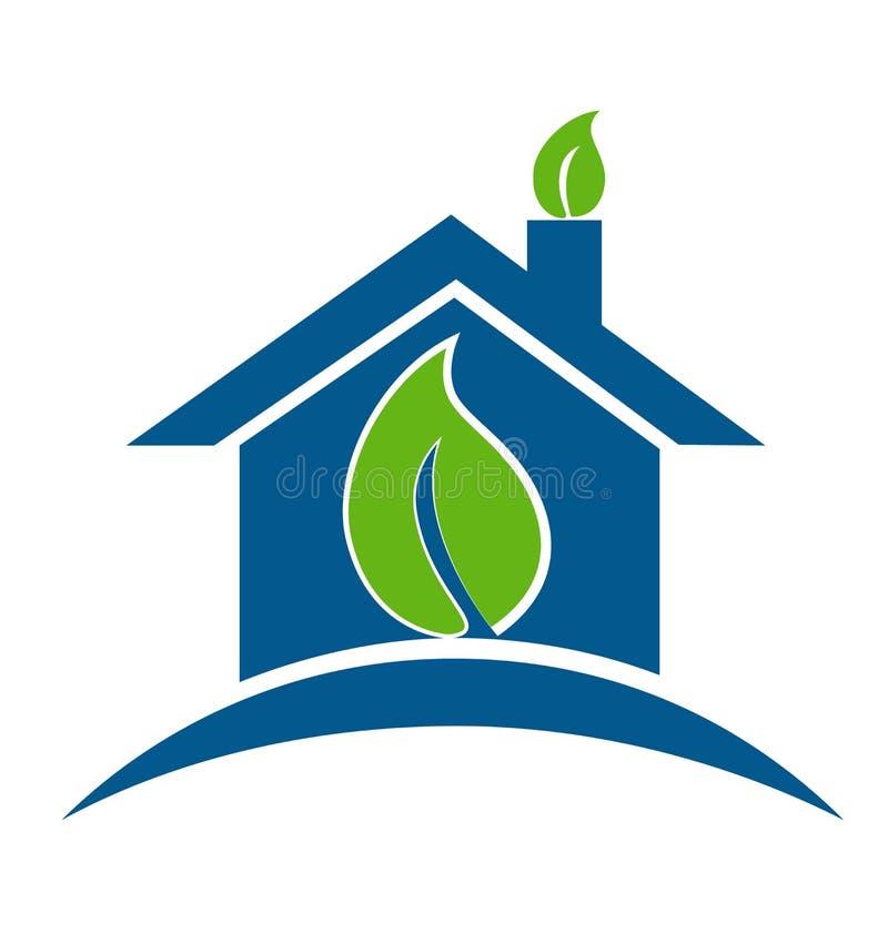 Folhas da casa verde ilustração royalty free