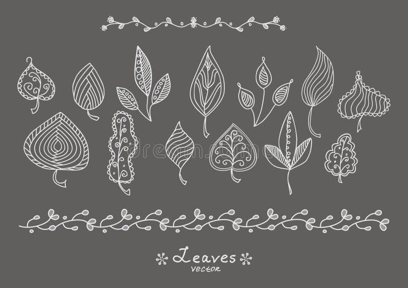 Folhas da garatuja ilustração do vetor