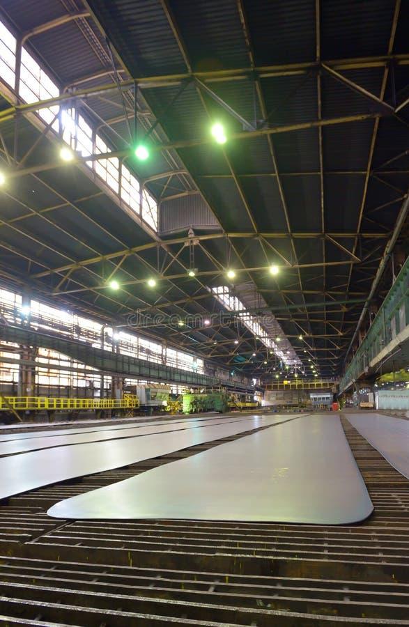 Folhas da produção do aço fotografia de stock