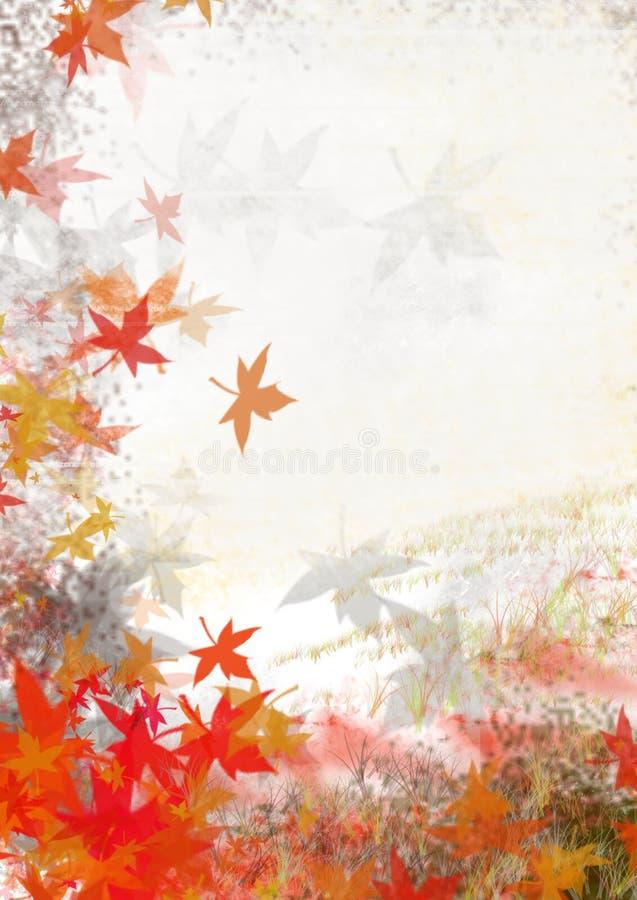 Folhas da queda ilustração stock