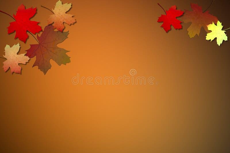 Folhas da queda do fundo ilustração stock