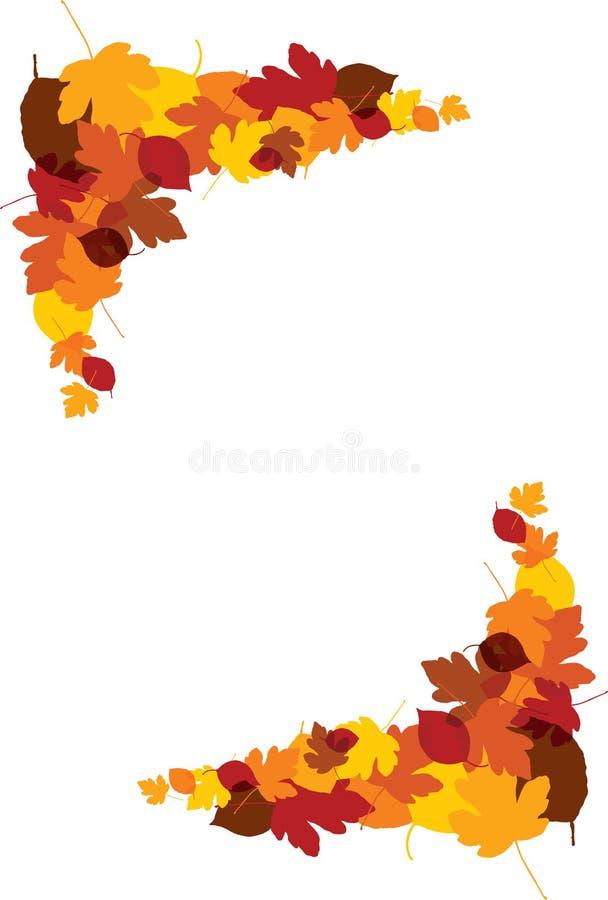 Folhas da queda do outono ilustração royalty free