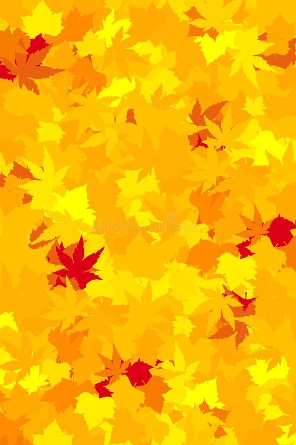Folhas da queda, papel de parede ilustração royalty free