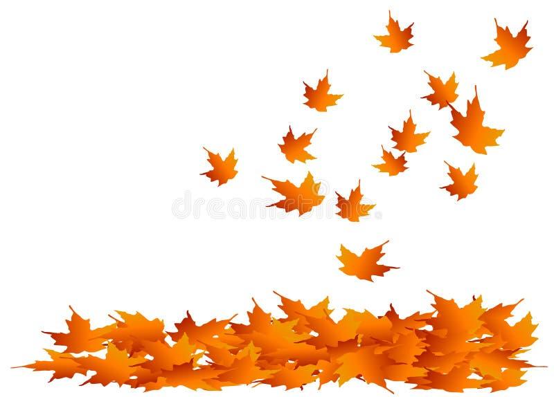 Folhas de bordo do outono ilustração royalty free