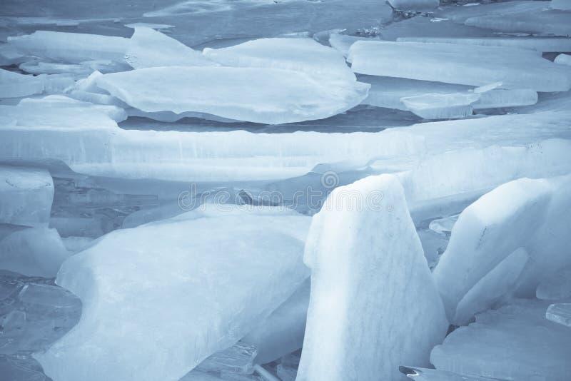 Folhas de gelo no lago fotos de stock