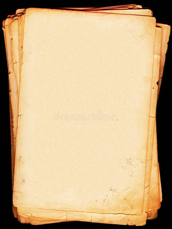 Folhas de letra envelhecidas fotos de stock