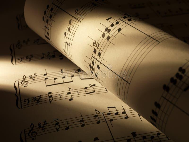 Folhas de música imagens de stock royalty free