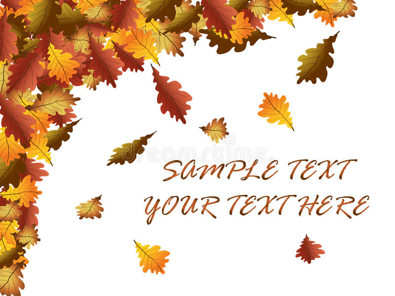 Folhas de outono ilustração stock