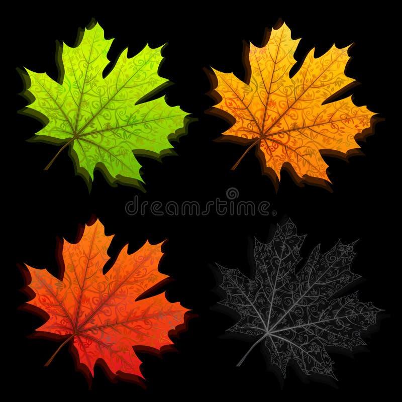 Folhas de outono ilustração do vetor