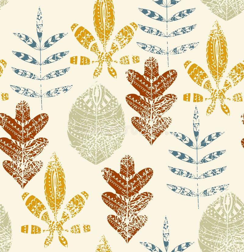 Folhas de outono abstratas ilustração royalty free