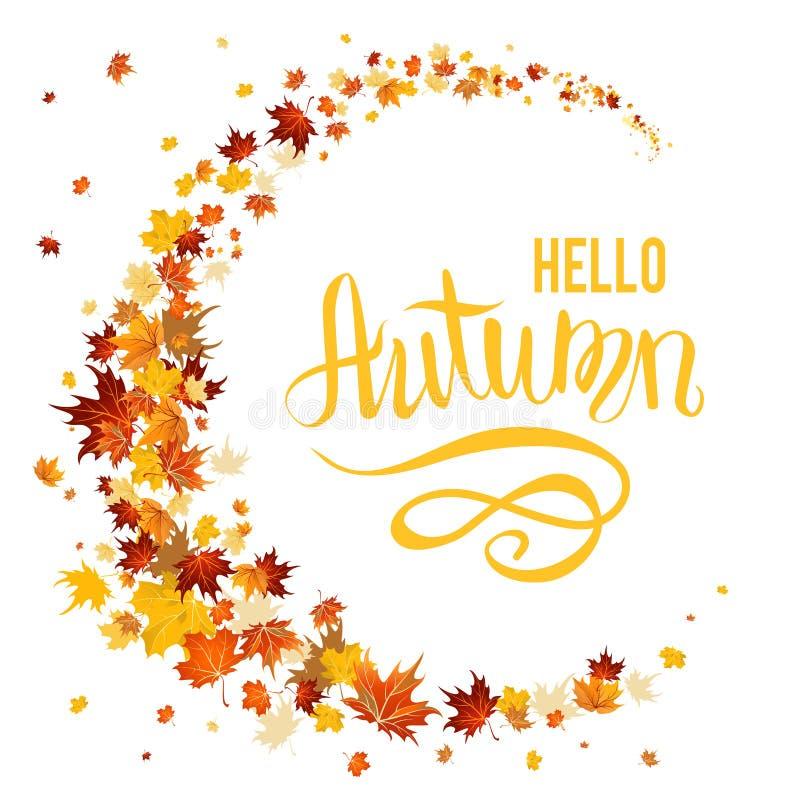 Folhas de outono bonitas ilustração royalty free