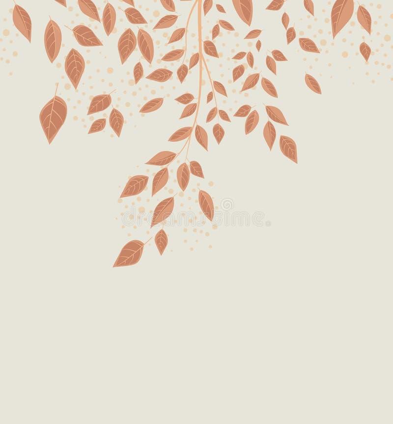 Folhas de outono do fundo ilustração stock